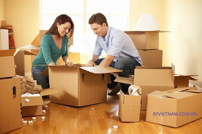thùng carton chuyển nhà - văn phòng